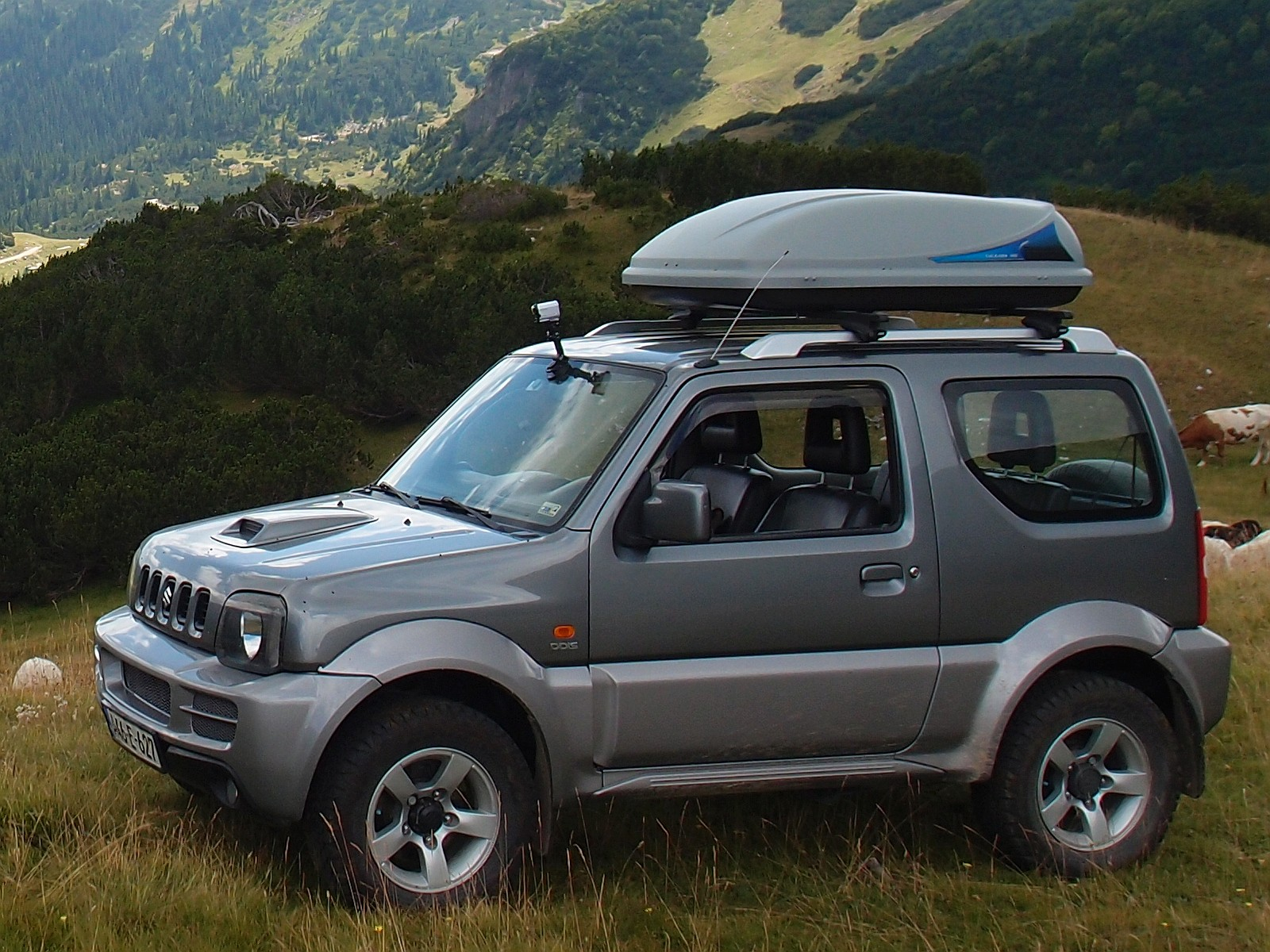 File Suzuki Jimny With Roof Box Thule Ocean 100 A03
