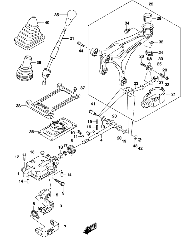 gearbox remote - bolt joint - vvt